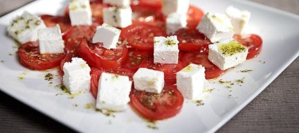 Griekse tomatensalade