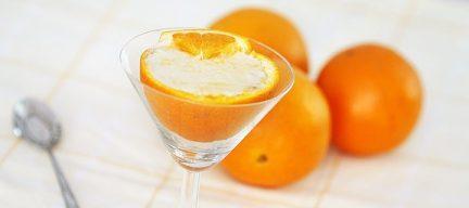 Griekse yoghurt met sinaasappel