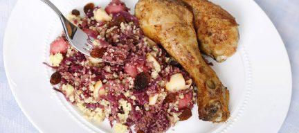 Couscous met rode kool