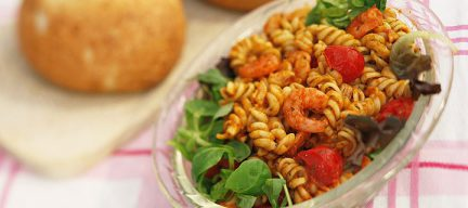Fusilli salade met garnalen