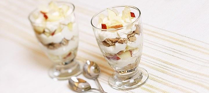 Trifle met appel