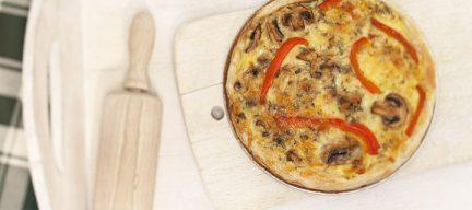 Mini quiche met paprika champignons