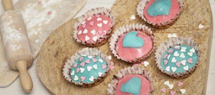 Amandel muffins met marsepein