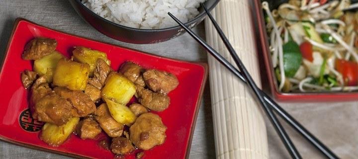 Indonesische kip met ananas