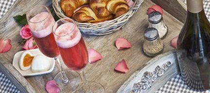 Valentijnsontbijt met prosecco