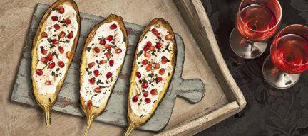 Aubergine met granaatappel