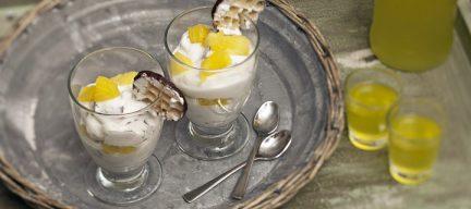 Limoncello dessert met ananas