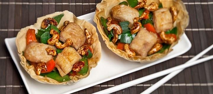 Oosters bakje met vis