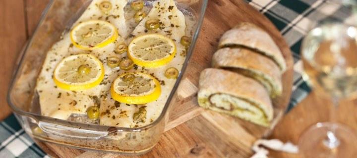 Vis met citroen uit de oven