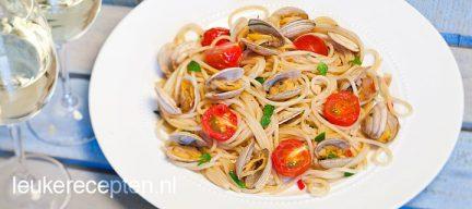 Spaghetti vongole met tomaat