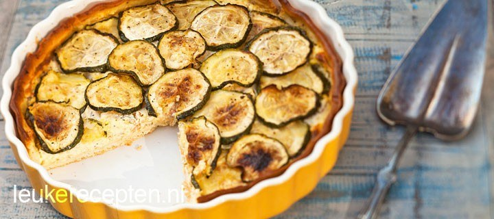 Courgette zalm quiche