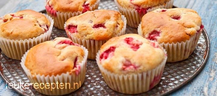 Aardbeienmuffins