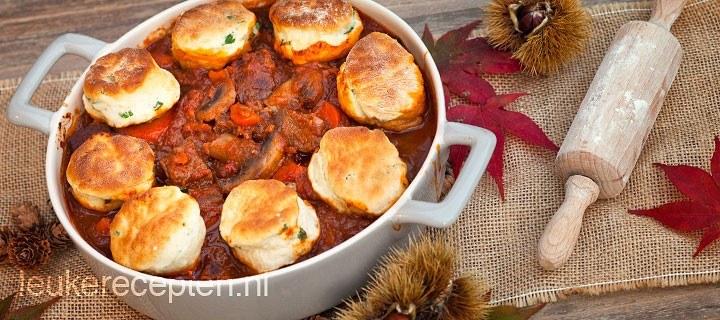 Stoofschotel met scones (cobbler)