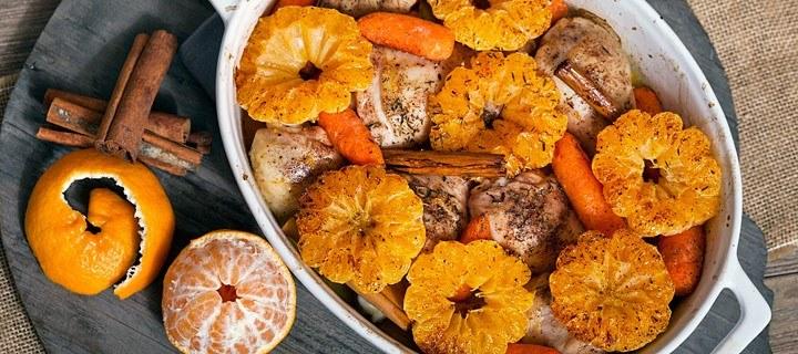 Kippenbouten met mandarijn