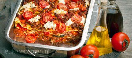 Lasagne met ricotta