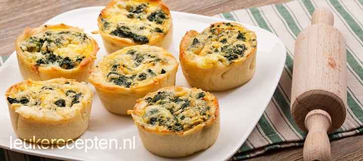 Mini quiche met gorgonzola