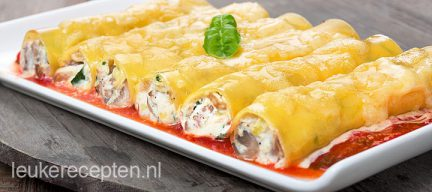 Cannelloni met courgette