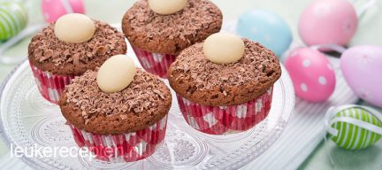 Chocolade paasmuffins