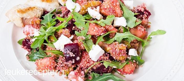 Quinoa met rode bieten