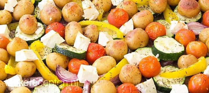 Groente met feta uit de oven