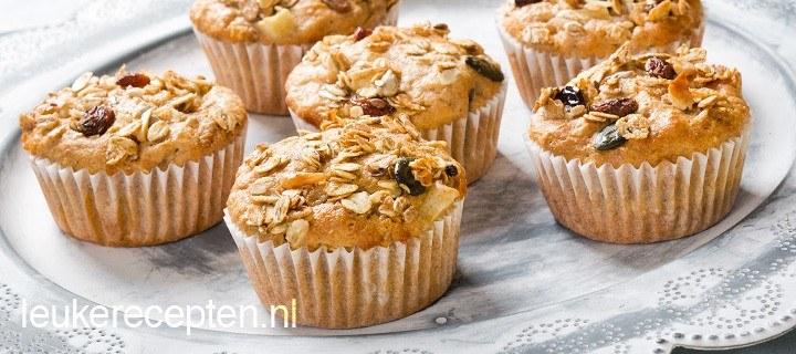 Muesli muffins met yoghurt