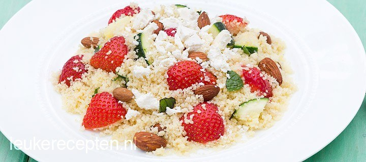 couscous met aarbeien