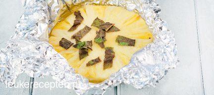 Ananas toetje van de BBQ
