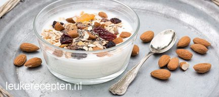 Yoghurt ontbijt met noten