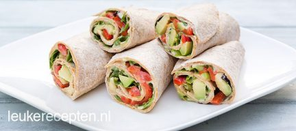 Lunch wrap met avocado
