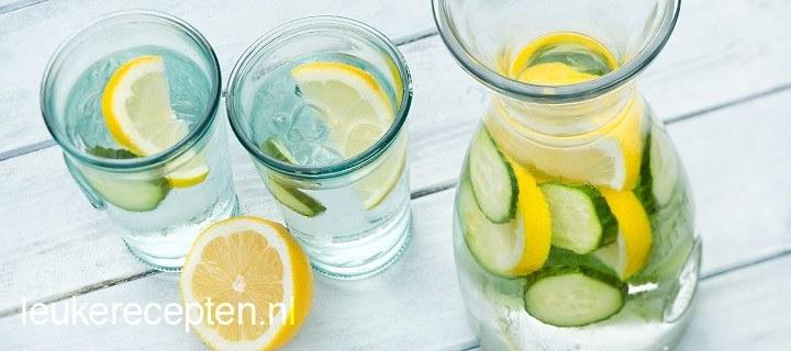 verfrissend citroenwater