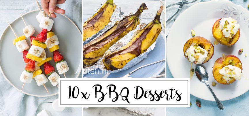 10 x desserts van de BBQ
