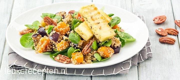 Quinoa salade met haloumi