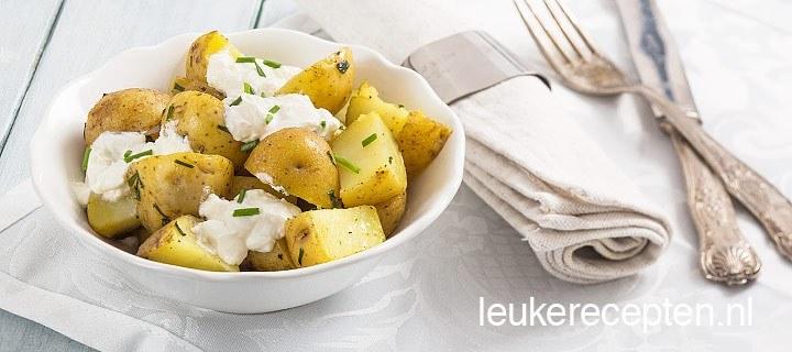 Aardappels met zure room