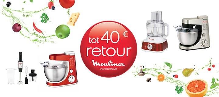 Cadeautip: Moulinex producten tot 40 euro retour
