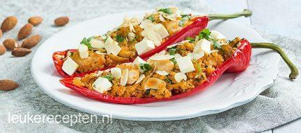 Light recept: puntpaprika met quinoa