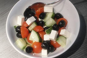griekse salade in filodeeg 01