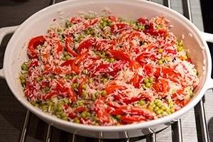 spaanse rijstschotel met garnalen 05