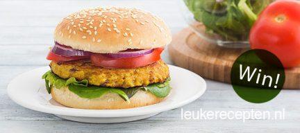 Review en 5 x winnen: vegetarische Boekoeloekoe burger