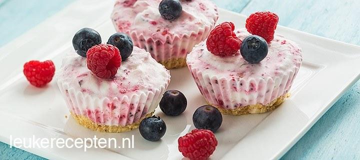 Mini yoghurt ijstaartjes