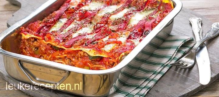 Lasagne met paprika