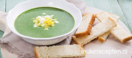 Bosui spinazie soep