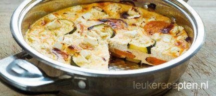 Frittata met zoete aardappel