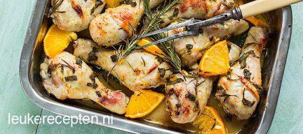 Kip met sinaasappel en honing