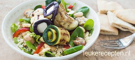 Couscous salade met groenterolletjes