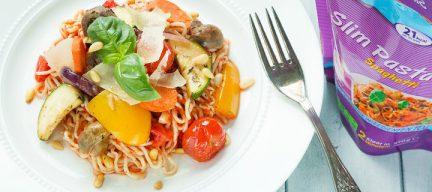 Gezonde koolhydraatarme pasta met lekker veel groente