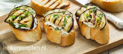 Bruschetta met aubergine