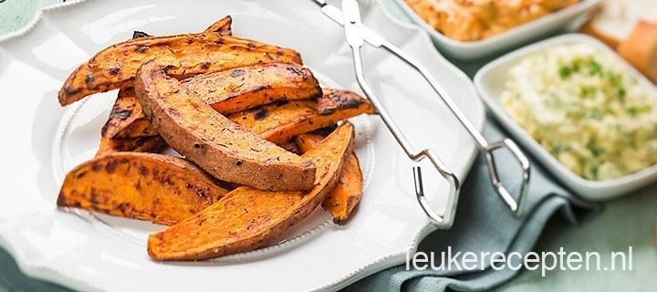 Zoete aardappel van de BBQ