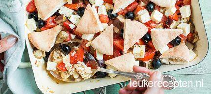 Griekse ovenschotel met kip