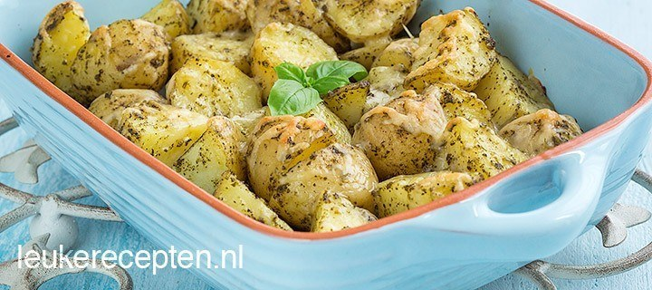 pesto aardappelen