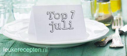 7 populairste recepten juli